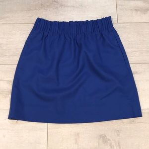 J. Crew Wool Blend, Cobalt Blue Skirt